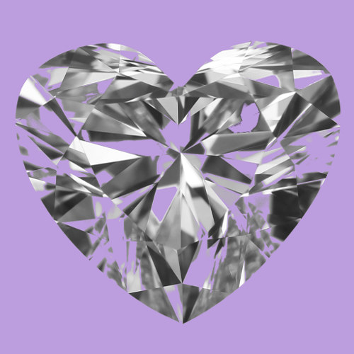 HEART SHAPE DIAMOND with colored background