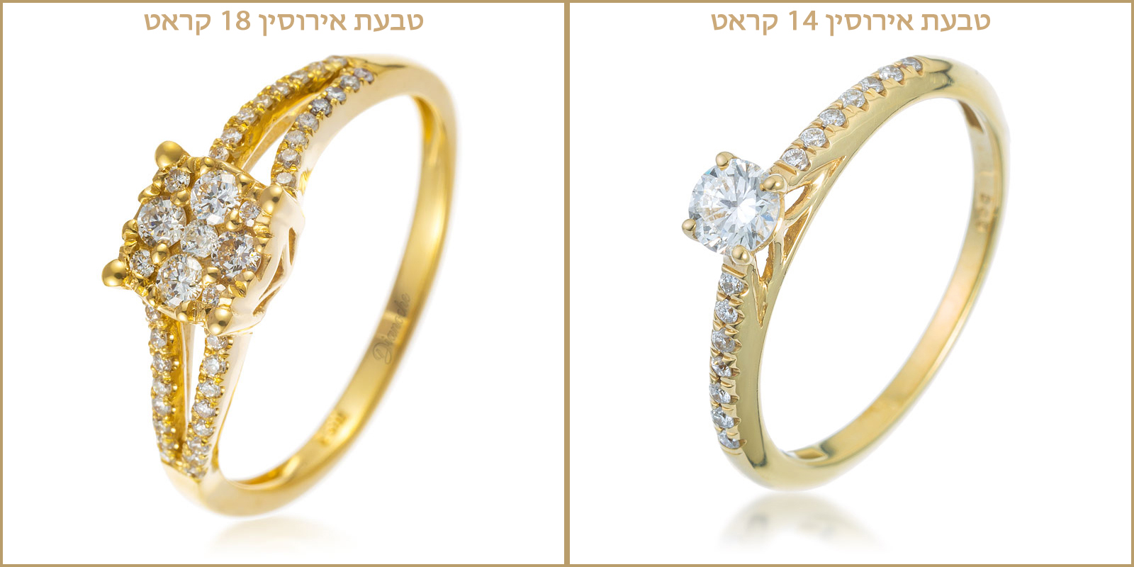 18K vs. 14K gold rings difference
