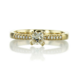 yellow gold small twist engagement ring
