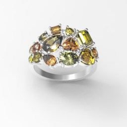colored diamonds ring