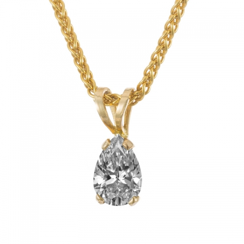 pear shape diamond pendant with yellow gold mounting.jpg